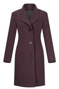Klasyczny płaszcz Moris Aga fioletowy