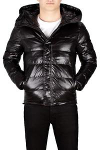 Męska kurtka pikowana czarna