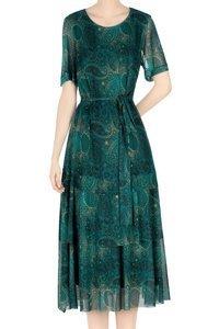 Sukienka Dorota zielona w mazaje