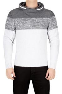 Sweter męski 4823 białoszary