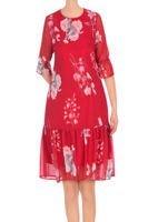 ebe0113021 Luźna sukienka damska Marisa czerwona w kwiaty 3394