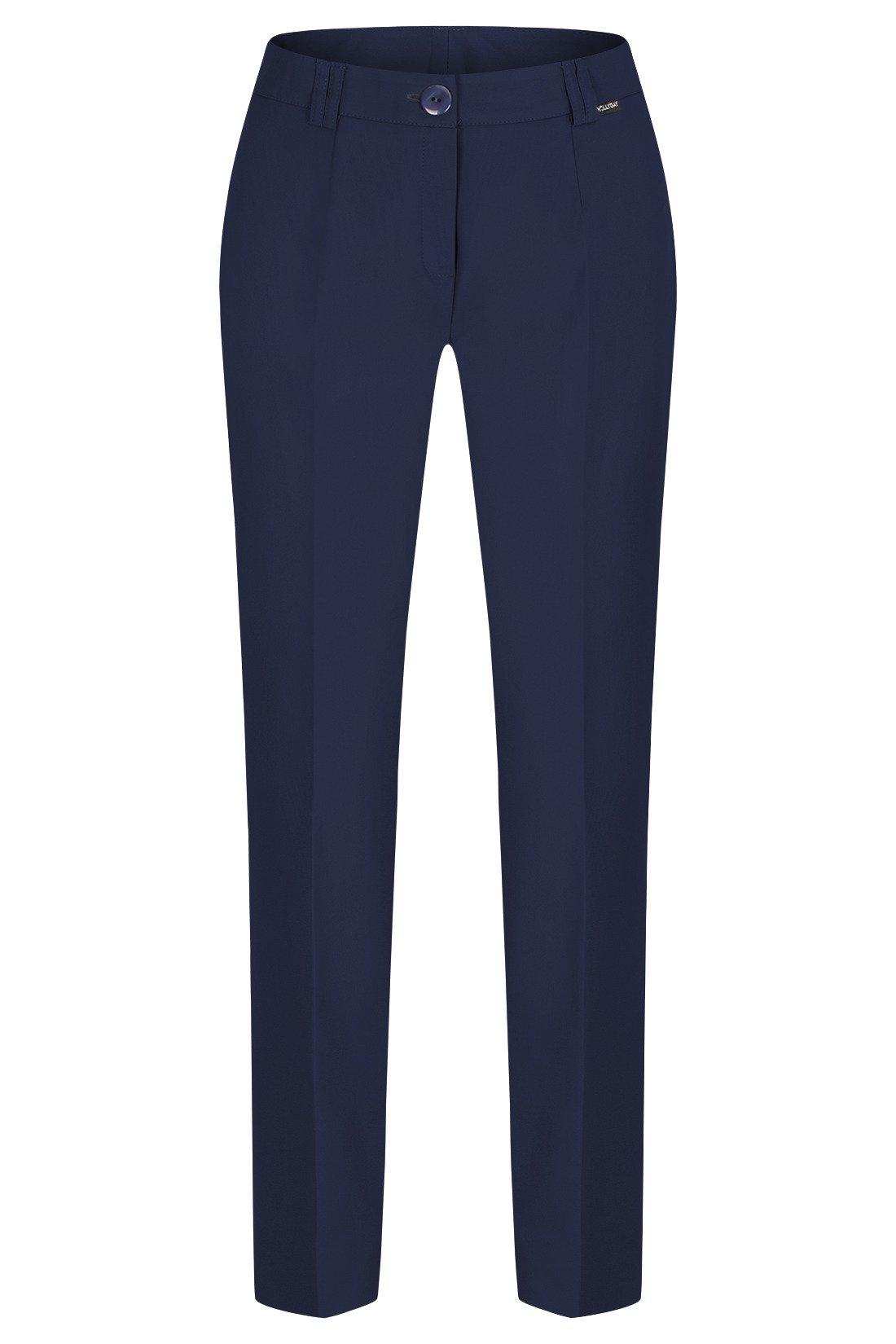 a18decd7 Spodnie damskie Hela granatowe rozciągliwe wysokie w stanie długość 7/8