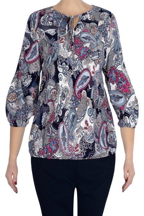 Bluzka W&M w kolorowe mazaje/kwiaty