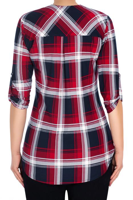 Codzienna bluzka damska 2788 w kratkę