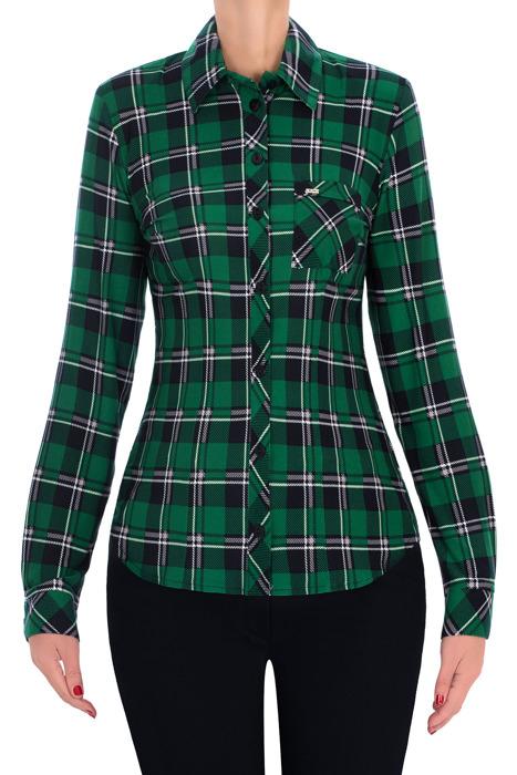 Codzienna bluzka damska 2820 zielona w kratkę