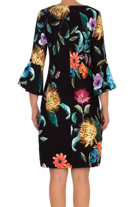 Codzienna sukienka J.S.A. Mirona czarna w kwiaty