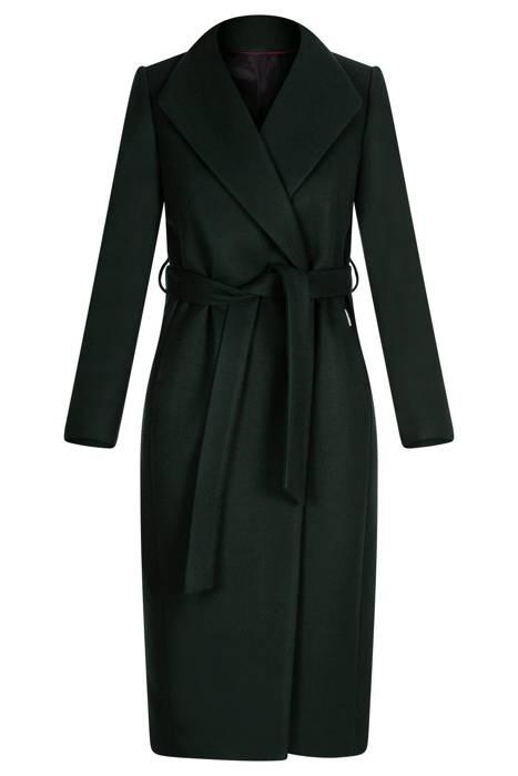 Damski płaszcz Zartex Viki zielony