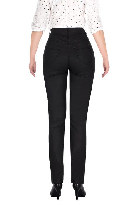 Długie spodnie a'la skóra grafitowe MTM