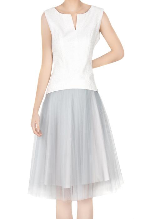 Dwuczęściowa sukienka damska odcienie szarości