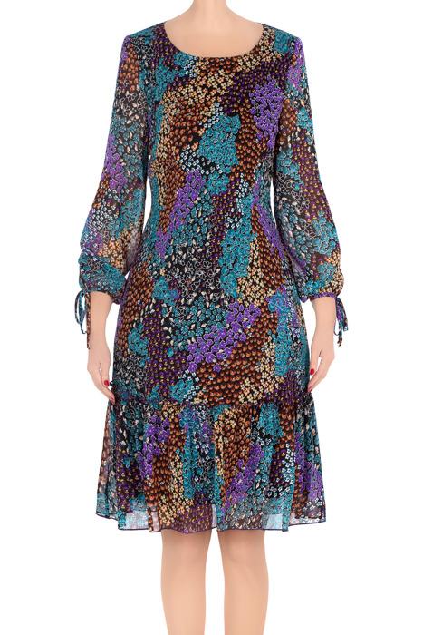 Elegancka sukienka 2794 wielokolorowa