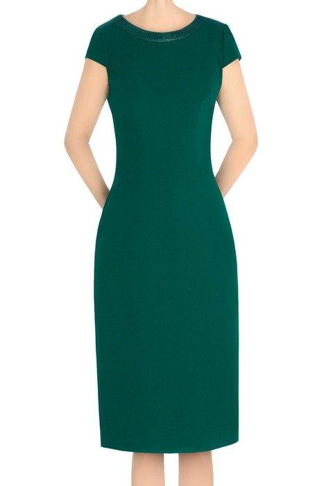 Elegancka sukienka Dagon 2813 zielona