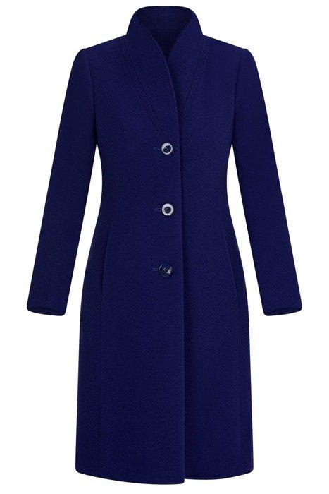 Elegancki płaszcz damski koloru chabrowego 3698