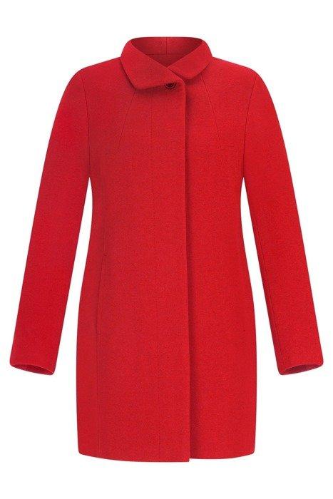 Elegancki płaszcz damski koloru czerwonego 3697
