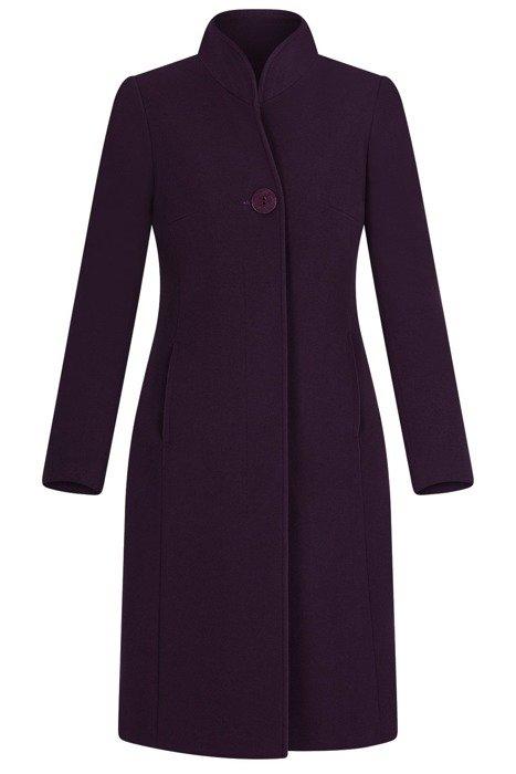 Elegancki płaszcz damski koloru fioletowego  3706