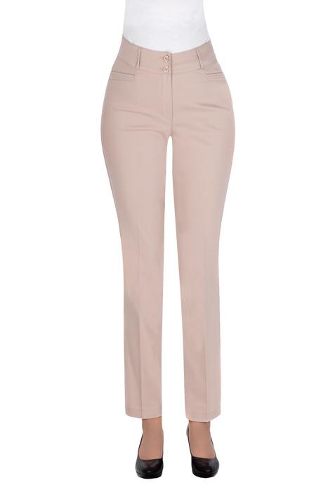 Eleganckie, długie spodnie MTM 74 beżowe