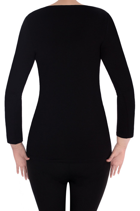 Klasyczna bluzka 2998 czarna tiul z koronką