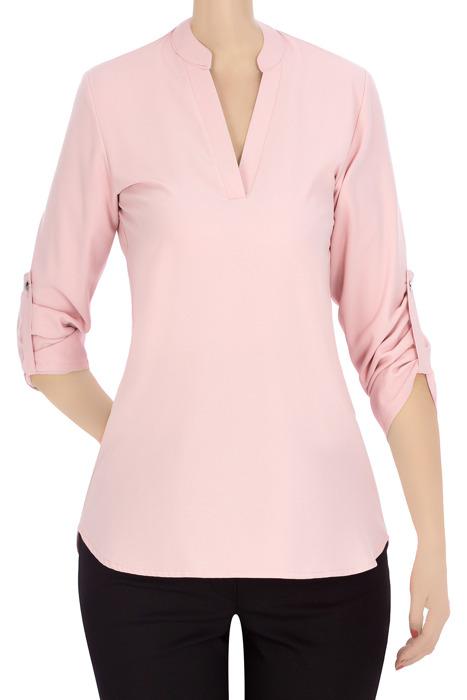 Klasyczna bluzka damska pudrowy róż 3338