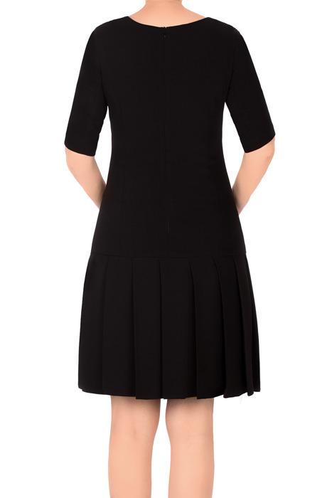 Klasyczna sukienka Rene Monika czarna prosty fason