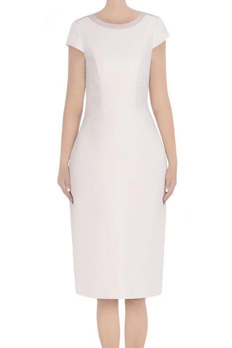 Klasyczna sukienka damska Dagon 2813 piaskowy beż