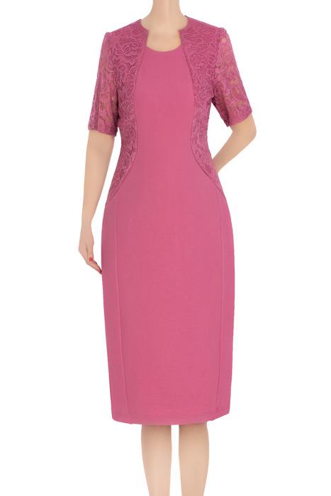 Klasyczna sukienka damska Zosia wrzosowa 3380