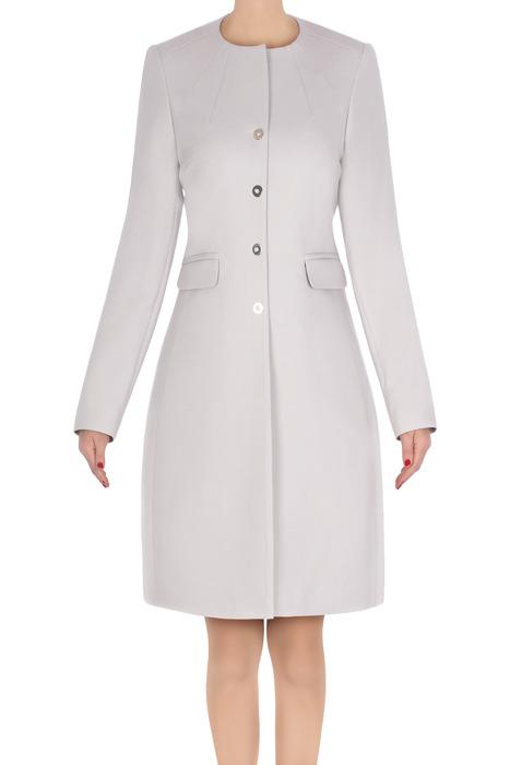 Klasyczny płaszcz damski Dagon 2741 szary