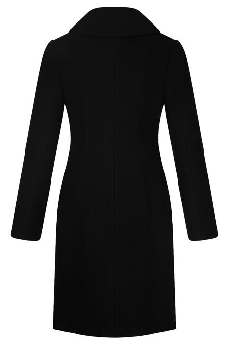 Klasyczny płaszcz damski zimowy Joanna czarny z wełną
