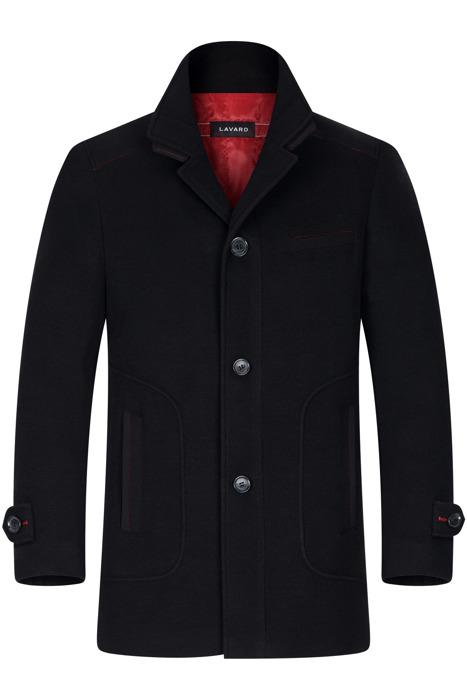 Klasyczny płaszcz zimowy Lavard Gregorio Frisbi 20824 granatowy