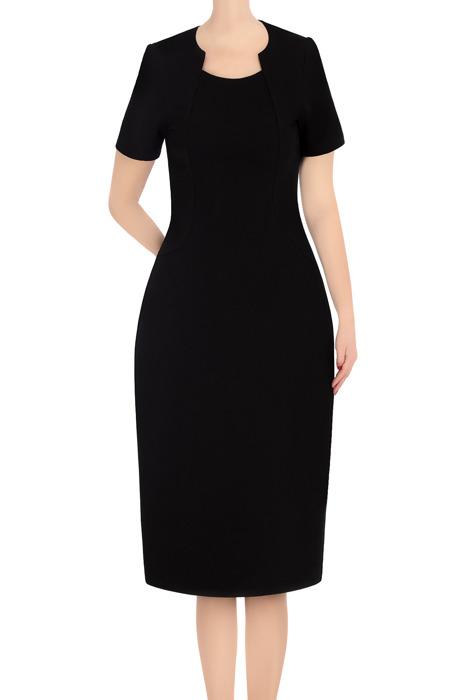 Koktajlowa sukienka damska Ela czarna 3371