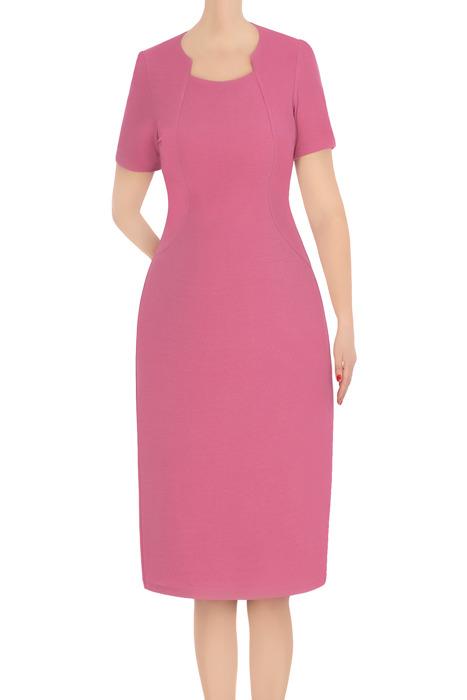 Koktajlowa sukienka damska Ela wrzosowa 3377