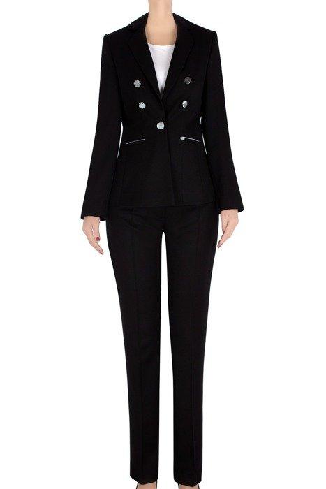 Komplet damski żakiet i spodnie czarny