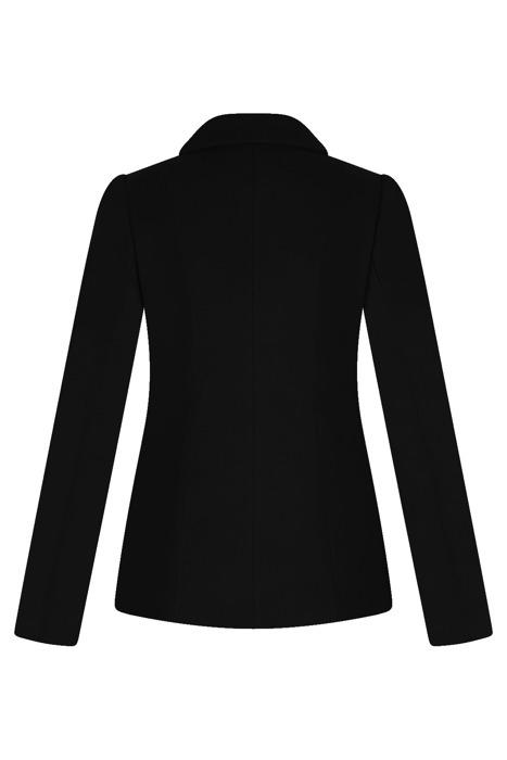 Krótka kurtka damska Huna Oktawia czarna na guziki