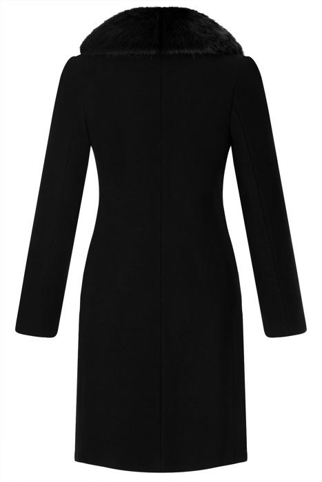 Płaszcz damski zimowy Marlena czarny z wełną
