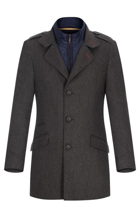 Płaszcz zimowy Lavard Gilberto 2 Jersey 27308 szaro-brązowy