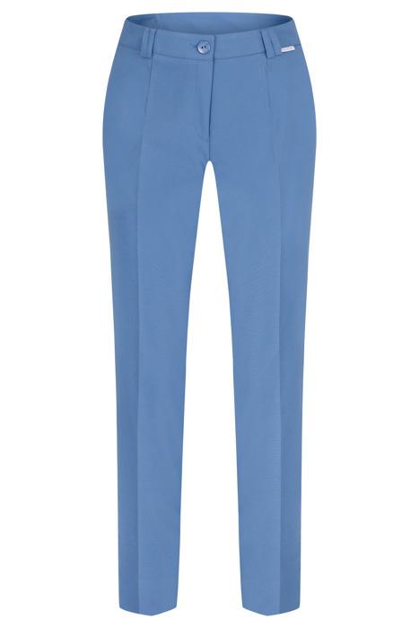 Spodnie damskie Hela jasny jeansowy rozciągliwe wysokie w stanie długość 7/8