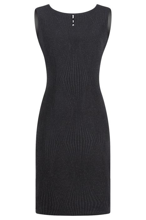 Sukienka Dagon 2318 czarna z brokatem