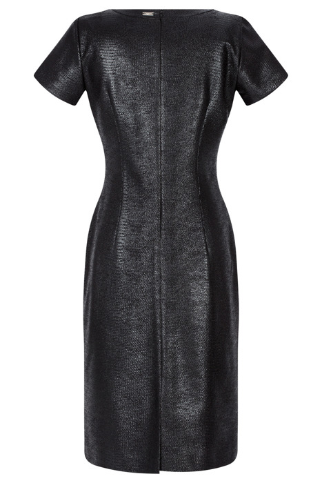 Sukienka Dagon 2499 eko skóra czarna