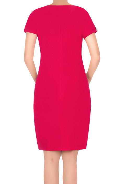 Sukienka J.S.A. Kasia amarantowa z pęknięciem na ramieniu