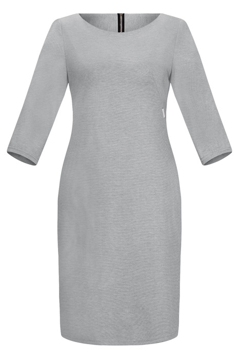 Sukienka Kolor dzianinowa, codzienna, do pracy szara