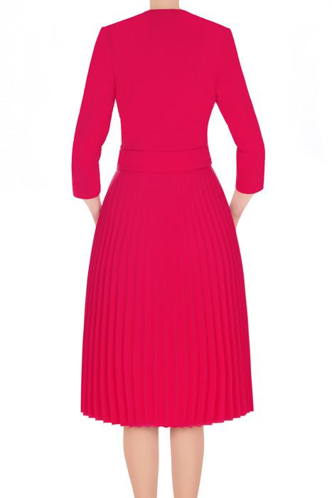 Sukienka Solejka amarantowa plisowana 3186