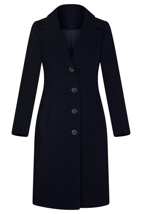 Zimowy płaszcz damski dyplomatka 2930 granatowy
