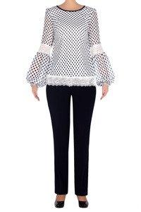 Elegancki komplet damski bluzka i spodnie 3198